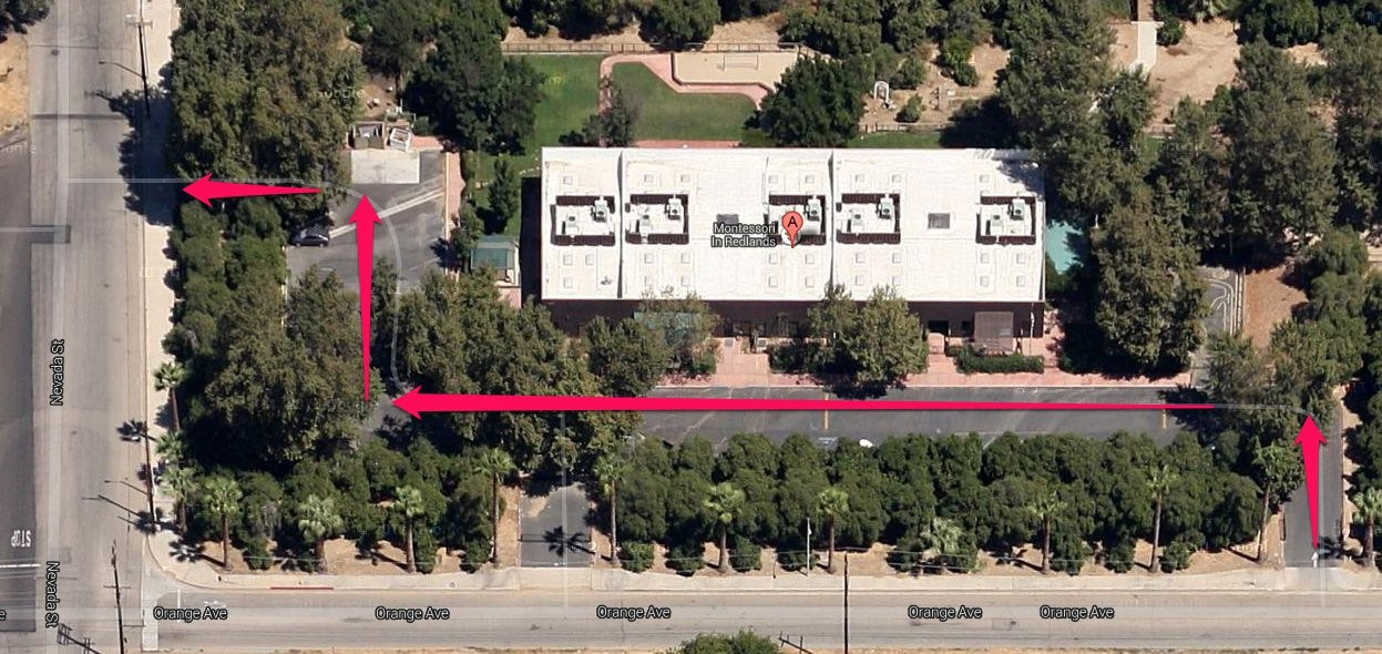 Map of south campus lot.